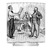 Abolitionist Newspaper Shower Curtain by Granger