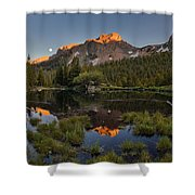 Absaroka Range Reflection Shower Curtain by Leland D Howard