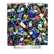 Abstract - colored glass characters Shower Curtain by Paul Ward