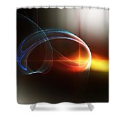 Abstract 101311c Shower Curtain by David Lane