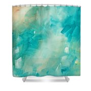 Abstract Art Colorful Bright Pastels Original Painting Spring Is Here II By Madart Shower Curtain by Megan Duncanson