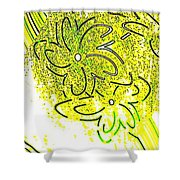 Abstract Fusion 107 Shower Curtain by Will Borden
