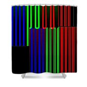 Abstract Fusion 135 Shower Curtain by Will Borden
