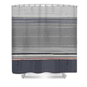 Abstract Grey Shower Curtain by Naxart Studio