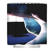 Abstract Snow Ice Shower Curtain by Colette V Hera  Guggenheim