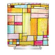 Abstract Town Shower Curtain by Setsiri Silapasuwanchai