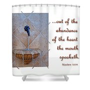 Abundance Of The Heart Shower Curtain by Larry Bishop