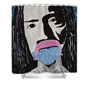 Acid Man Shower Curtain by Robert Margetts