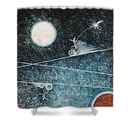 Across The Universe Shower Curtain by Graciela Bello