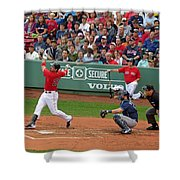 Adrian Gonzalez Shower Curtain by Juergen Roth