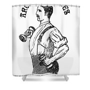 Advertisement: Suspenders Shower Curtain by Granger