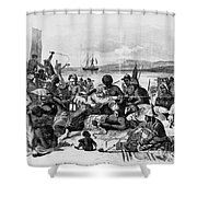 AFRICA: SLAVE TRADE, c1840 Shower Curtain by Granger