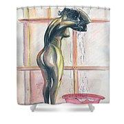 African Woman Shower Curtain by Emmanuel Baliyanga