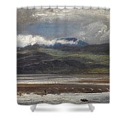 After Rain Shower Curtain by Henry Moore