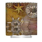 After The Rain Under The Star Shower Curtain by Pepita Selles