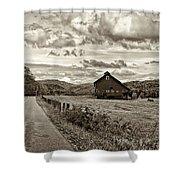Ah...west Virginia Sepia Shower Curtain by Steve Harrington