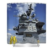 Air Department Sailors Test Shower Curtain by Stocktrek Images