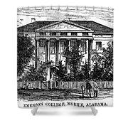 Alabama: Emerson College Shower Curtain by Granger