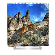 Alabama Hills Granite Fingers Shower Curtain by Bob Christopher