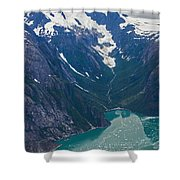 Alaska Coastal Shower Curtain by Mike Reid