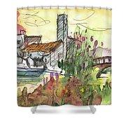 Albufera De Valencia 25 Shower Curtain by Miki De Goodaboom