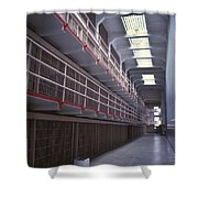 Alcatraz Cell Block Shower Curtain by Paul W Faust -  Impressions of Light