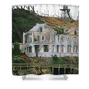 Alcatraz Skeleton Shower Curtain by Paul W Faust -  Impressions of Light
