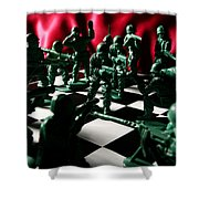 Alekhine's Gun Shower Curtain by Lon Casler Bixby