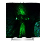 Aliens - First Contact - Green Shower Curtain by Wingsdomain Art and Photography