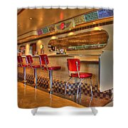 All American Diner 2 Shower Curtain by Bob Christopher