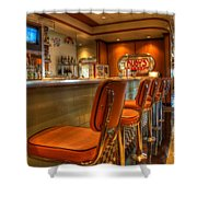 All American Diner 3 Shower Curtain by Bob Christopher