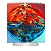Alternate Realities 2 Shower Curtain by Angelina Vick