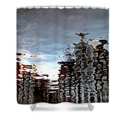 Amsterdam Reflections Shower Curtain by Andy Prendy