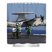 An  E-2c Hawkeye Launches From Aboard Shower Curtain by Stocktrek Images
