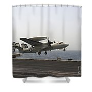An E-2c Hawkeye Takes Shower Curtain by Stocktrek Images