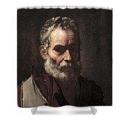 An Old Man Shower Curtain by Jusepe de Ribera