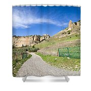 Andalucia Countryside in Spain Shower Curtain by Artur Bogacki