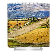 Andalusia Countryside Panorama Shower Curtain by Artur Bogacki