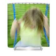 Angel Swing Shower Curtain by Aimelle