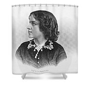 Anna Elizabeth Dickinson Shower Curtain by Granger