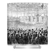 ANTI-SLAVERY MEETING, 1863 Shower Curtain by Granger