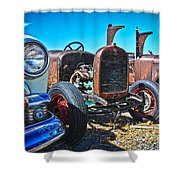 Antique Auto Sales Shower Curtain by Steve McKinzie