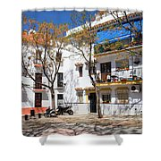 Apartment Houses in Marbella Shower Curtain by Artur Bogacki