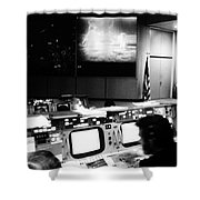 Apollo 11: Mission Control Shower Curtain by Granger