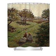Apple Orchard Shower Curtain by Luther  Emerson van Gorder