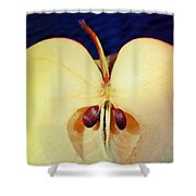 Apple Shower Curtain by Skip Hunt