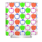 Apples Shower Curtain by Louisa Knight