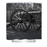 Appomattox Cannon Shower Curtain by Teresa Mucha