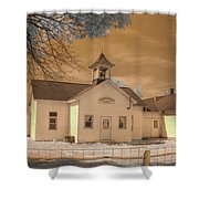 Arcola Illinois School Shower Curtain by Jane Linders
