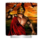 Ares Shower Curtain by Lourry Legarde